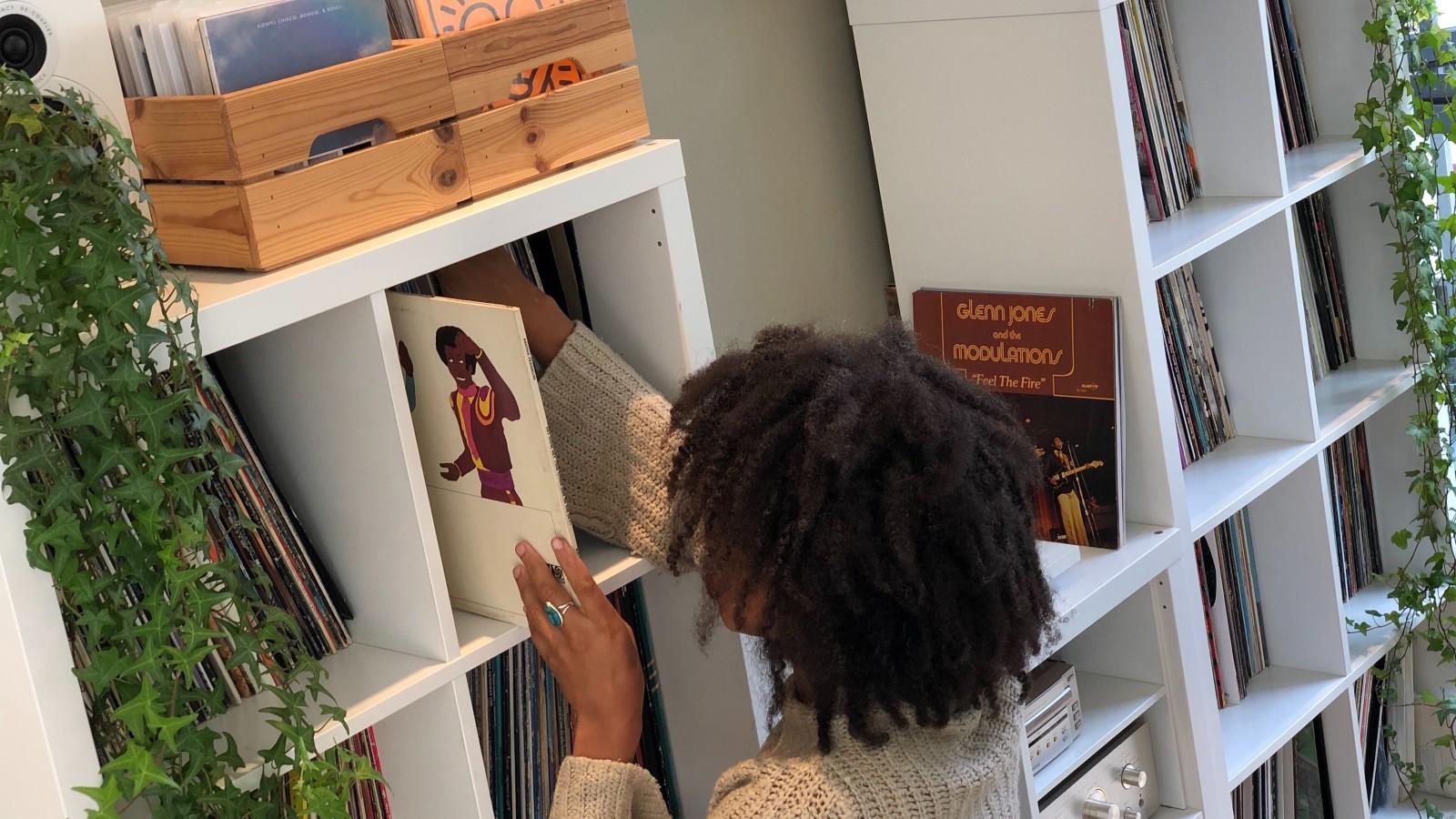 record collection organization shelves