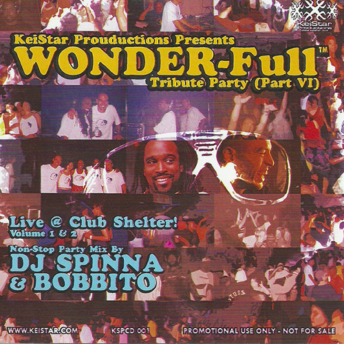 DJ Spinna & Bobbito ‎– Wonder-Full Tribute Party Part VI- Live Club Shelter Pts 1 and 2