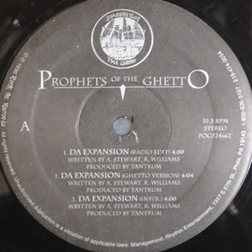 Prophets Of The Ghetto ‎– Da Expansion : $Kurrency$ : Save Da Chit-Chat