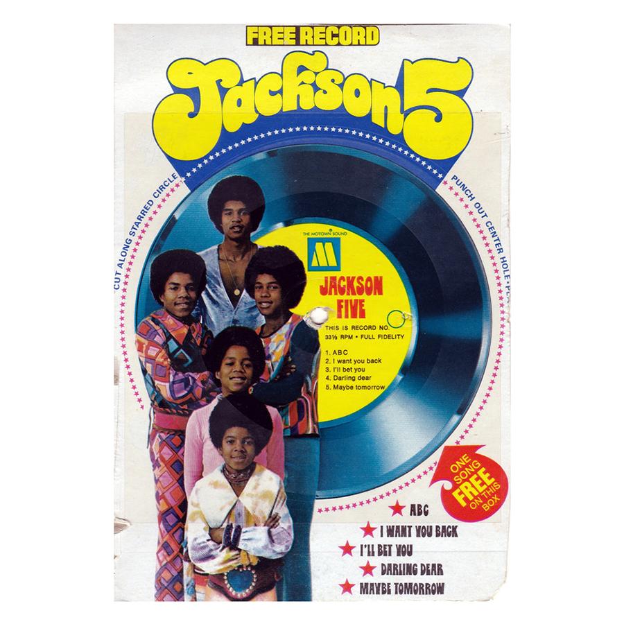 Jackson 5 cereal box record