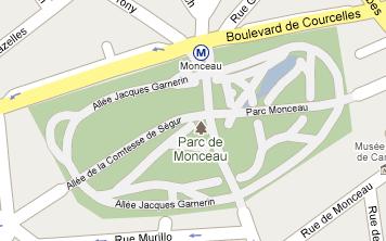 Plan parc Monceau