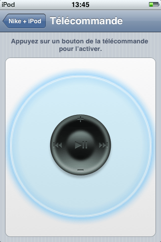 Télécommande iPod Touc