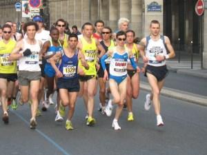 Christelle Daunay au Marathon de Paris 2009