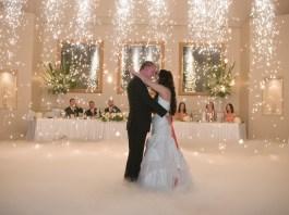 wedding dry ice effect