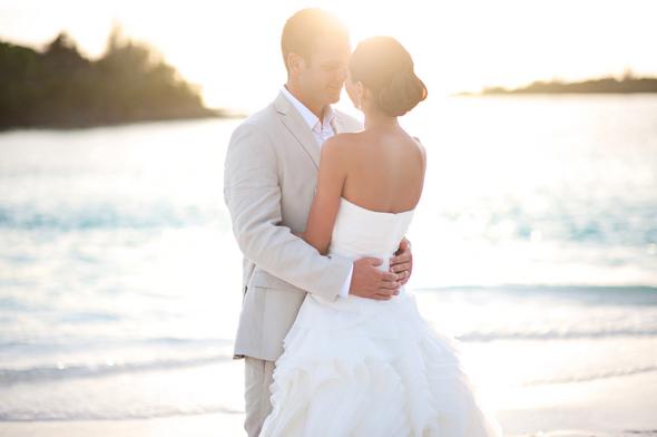 Wedding bride groom destination