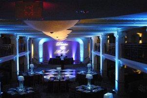 blue wedding up lights