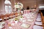 Pink Gold Wedding decor