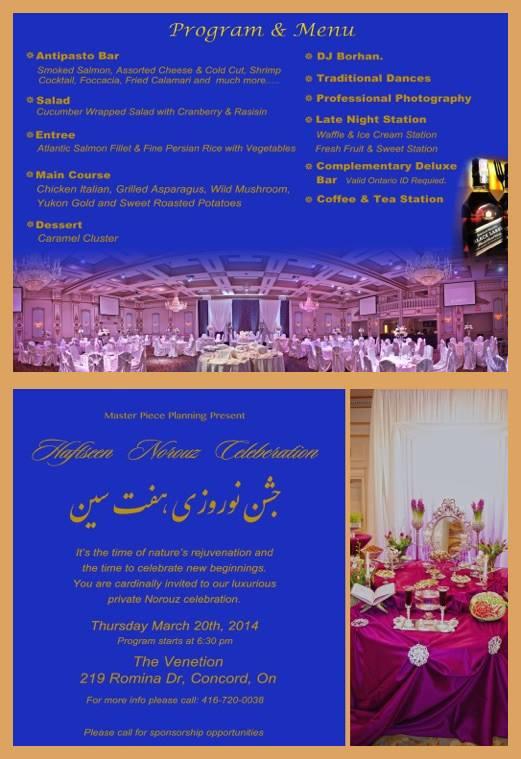 Norooz banquet party Toronto