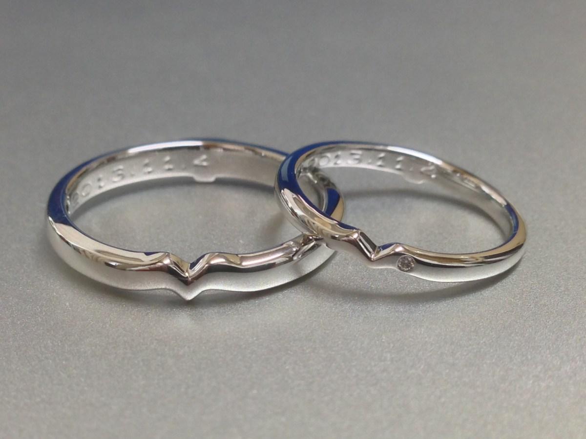 結婚指輪のフルオーダーの良いところ  二人で考えたデザインを指輪にすることが出来ることです。