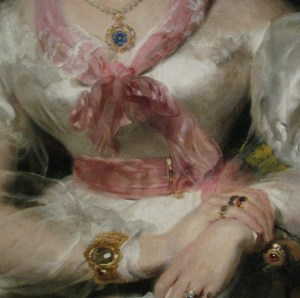 Detail of Portrait of the Honorable Mrs. Seymour Bathurst by Sir Thomas Lawrence, 1828