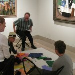 participating in a Creativity Challenge in the American galleries
