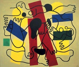 The Divers, Fernand Leger, 1942, oil on canvas, Dallas Museum of Art, Foundation for the Arts Collection, gift of the James H. and Lillian Clark Foundation