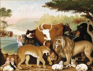 Edward Hicks, The Peaceable Kingdom, c. 1846-1847, oil on canvas, Dallas Museum of Art, The Art Museum League Fund