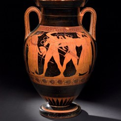 Red-figured amphora, Greek, made in Athens, 510–500 BC, Attributed to the Dikaios painter, from Vulci, Italy, GR 1843, 1103.41 (Vase E255) AN 367073001, © The Trustees of the British Museum (2013). All rights reserved.