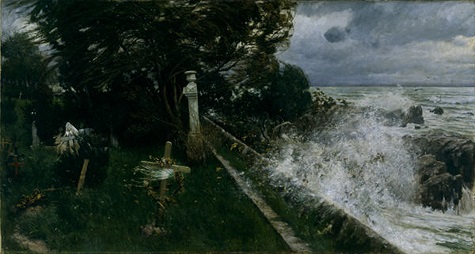 Adolf Hiremy-Hirschl, Seaside Cemetery (Seefriedhof), 1897, oil on canvas, Dallas Museum of Art, gift of J.E.R. Chilton