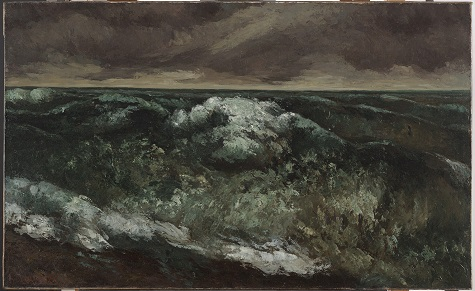 Gustave Courbet, The Wave, c. 1869-1870, oil on canvas, Dallas Museum of Art, gift of H.J. Rudick in memory of Arthur L. Kramer