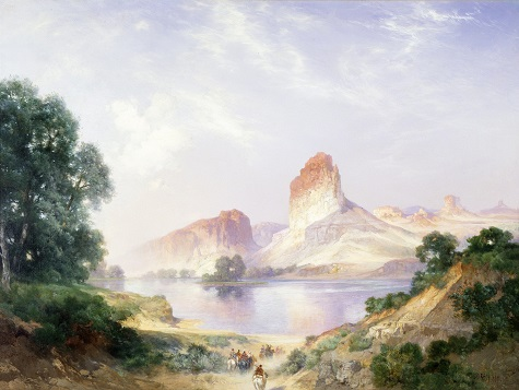 Thomas Moran, An Indian Paradise (Green River, Wyoming), 1911, oil on canvas, Dallas Museum of Art, Munger Fund