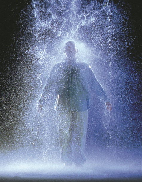 "Bill Viola, The Crossing, Chanel 2 - ""Water,"" 1996, two-channel video/sound installation, Dallas Museum of Art, Lay Family Acquisition Fund, General Acquisitions Fund, and gifts from an anonymous donor, Howard E. Rachofsky, Gayle Stoffel, Mr. and Mrs. William T. Solomon, Catherine and Will Rose, and Emily and Steve Summers, in honor of Deedie Rose"