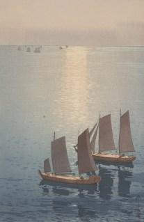 Hiroshi Yoshida, Glittering Sea, 1926, polychrome woodblock print, Dallas Museum of Art, the Abram C. Joseph and Ruth F. Ring Collection, gift of Miss Ruth F. Ring