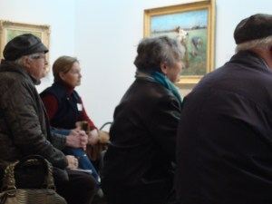 Meaningful Moments participants in the gallery