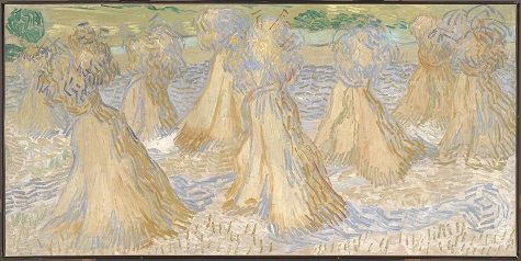 Vincent van Gogh, Sheaves of Wheat, July 1890, oil on canvas, Dallas Museum of Art, The Wendy and Emery Reves Collection