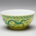 Bowl with Dragon Design, Yong Zheng Reign, China, A.D. 1723-1735, porcelain, overglaze enamel, Dallas Museum of Art, Foundation for the Arts Collection, gift of Mrs. Jerome Crossman