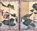 The Eight Immortals of the Wine Cup, Momoyama period, Japan, c. 1600, ink, pigment on gold, pair of six-fold screens, Dallas Museum of Art, The Eugene and Margaret McDermott Art Fund, Inc.