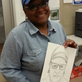 Vicki Meek, Manager of South Dallas Cultural Center, (and talented artist!)