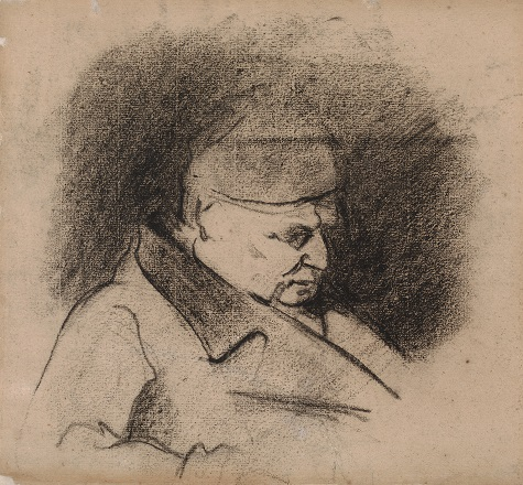 Paul Cezanne, Portrait of the Artist's Father, 1868-1873, charcoal, Dallas Museum of Art, The Wendy and Emery Reves Collection