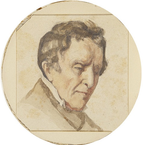 Gustave Courbet, Portrait of Regis Courbet, the Artist's Father, 1848-1849, watercolor and pencil on wove paper, Dallas Museum of Art, The Wendy and Emery Reves Collection