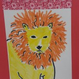 lion art activity