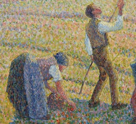 Camille Pissarro, Apple Harvest (Cuillette des pommes), 1888 (detail)