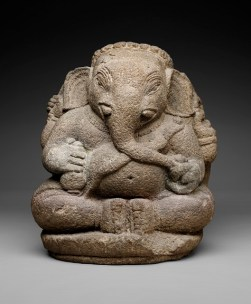 Ganesha, Java, Majapahit Empire, Indonesia, Asia, 14th century, stone, Dallas Museum of Art, Dallas Art Association Purchase