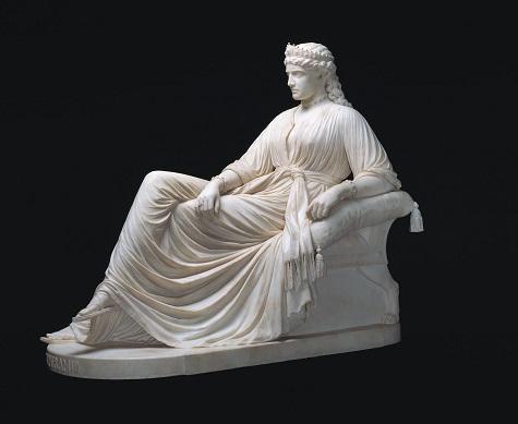 "William Wetmore Story, ""Semiramis,"" designed 1872, carved 1873, marble, Dallas Museum of Art, gift of Morynne and Robert E. Motley in memory of Robert Earl Motley, Jr., 1942-1998"