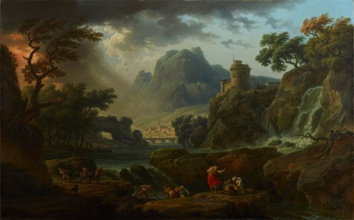 Claude-Joseph Vernet, A Mountain Landscape with Approaching Storm, 1775, Dallas Museum of Art, Foundation for the Arts Collection, Mrs. John B. O'Hara fund