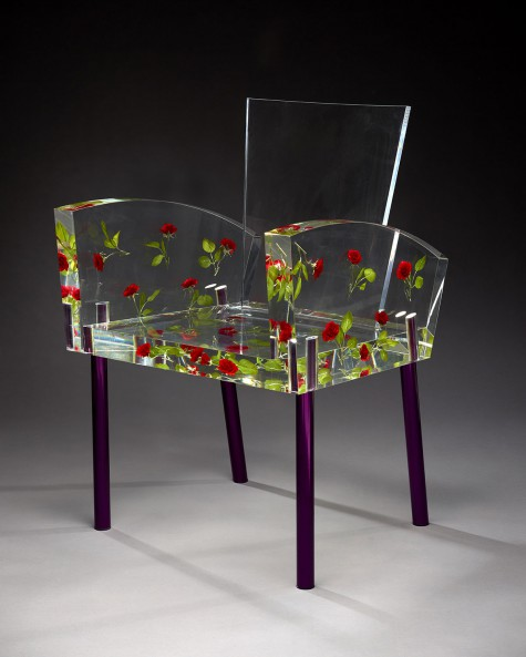 Miss Blanche chair by Shiro Kuramata, Dallas Museum of Art, gift of Caren Prothro, Vincent and Dara Prothro, and Nita and Cullum Clark, and Catherine, Alex, Charlie, Jack, and Will Rose, Lela Rose and Grey, Rosey, and Brandon Jones in honor of Deedie Rose, DMA/amfAR Benefit Auction Fund, and Discretionary Decorative Arts Fund, 2012.29.A-E