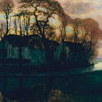 Piet Mondrian. Farm Near Duivendrecht, in the Evening, c. 1916 (reprise of a compositional series from 1905 to 1908), oil on canvas, Dallas Museum of Art, gift of