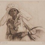 Dorothy Kay, The Old Oyster Girl, n.d., etching, Dallas Museum of Art, gift of the B.M. Newhouse Galleries
