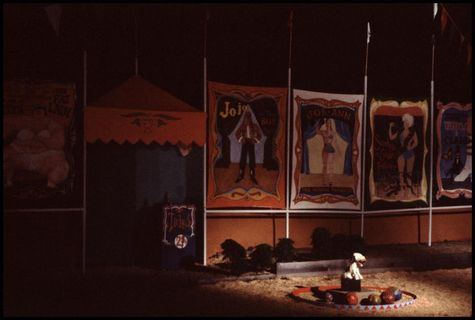 "Sideshow banners created for ""The Arts of the Circus."""