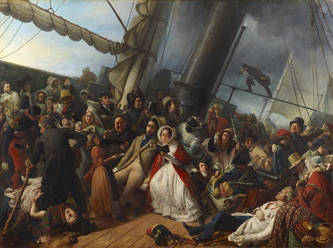 François Auguste Biard, Seasickness on an English Corvette (Le mal de mer, au bal, abord d'une corvette Anglaise), 1857, oil on canvas, Dallas Museum of Art, gift of J.E.R. Chilton 2011.27