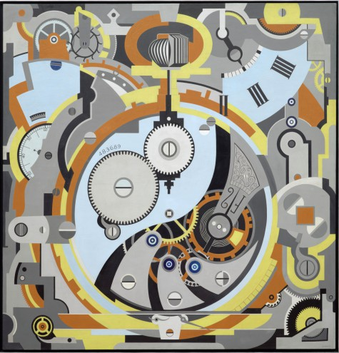 Gerald Murphy, Watch, 1925, oil on canvas, Dallas Museum of Art, Foundation for the Arts Collection, gift of the artist © Estate of Honoria Murphy Donnelly