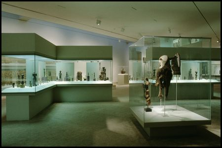 African gallery at the Dallas Museum of Art, in 1992.