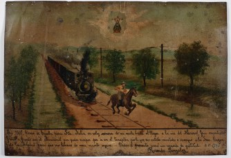 Retablo Dedicated by Rosendo Gonzalez, Latin American, January 1, 1907, Dallas Museum of Art, gift of Mr. and Mrs. Stanley Marcus Foundation
