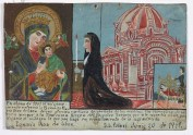 Retablo Dedicated by Ignacio Diaz de Leon, 20 June 1911, oil on tin, Dallas Museum of Art, gift of Mr. and Mrs. Stanley Marcus Foundation 1961.80