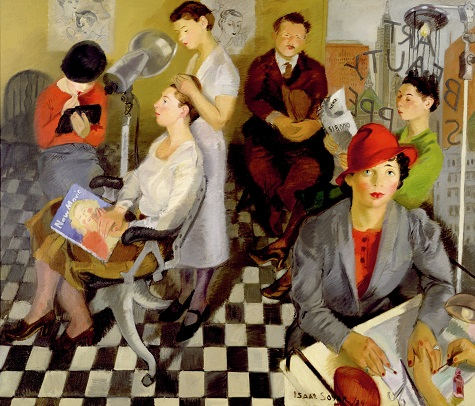 Isaac Soyer, Art Beauty Shoppe, 1934, oil on canvas, Dallas Museum of Art, gift of the Public Works of Art Project 1935.7