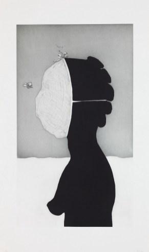 Kara Walker, savant, 2010, etching with aquatint, sugar-lift, spit-bite, and drypoint Dallas Museum of Art, Mary Margaret Munson Wilcox Fund 2010.39.3 © Kara Walker