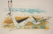 Otis Dozier, Jack Rabbit, 1961, mixed media on paper, Dallas Museum of Art, gift of The Dozier Foundation 1990.87
