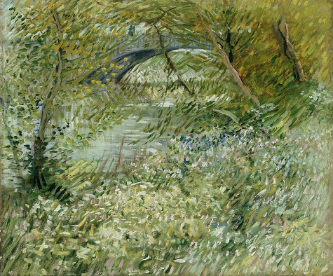 Vincent van Gogh, River Bank in Springtime, 1887, oil on canvas, Dallas Museum of Art, gift of Mr. and Mrs. Eugene McDermott in memory of Arthur Berger, 1961.99