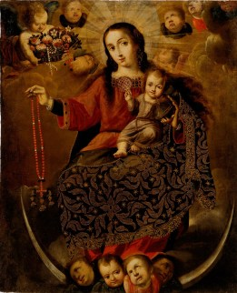 Melchor Pérez Holguín, Virgin of the Rosary, Late 17th-Early 18th century, Dallas Museum of Art, gift of Mary de la Garza-Hanna and Virginia de la Garza and an anonymous donor.