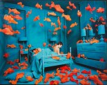 "Sandy Skoglund, ""Revenge of the Goldfish,"" 1980, color photograph, Dallas Museum of Art, General Acquisitions Fund, 1981.32"